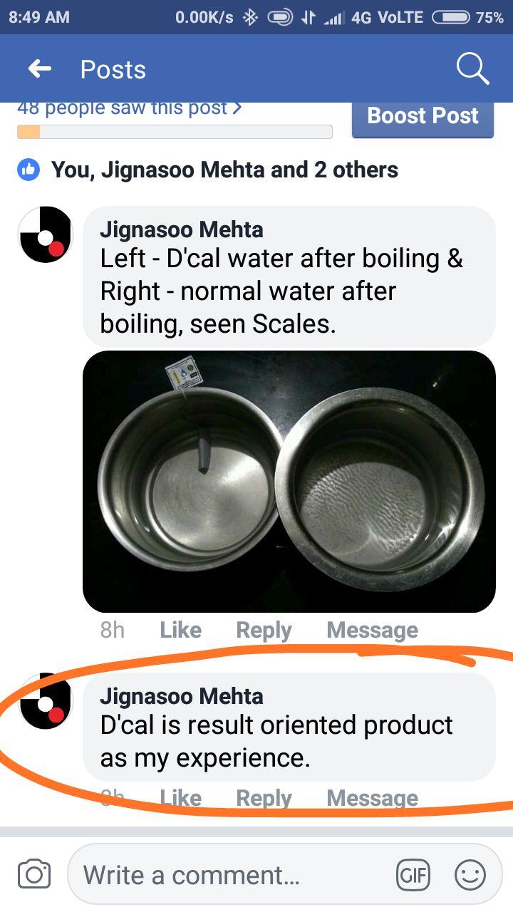 Jignasoo Mehta dcal customer testimonial whatsapp