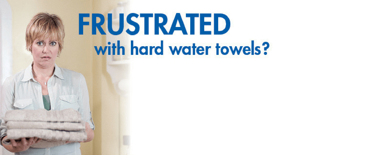 Frustrated with hard water towels