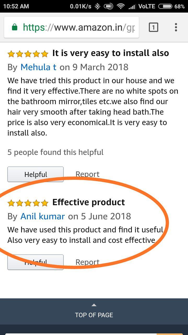 Dcal Customer Testimonial through Amazon