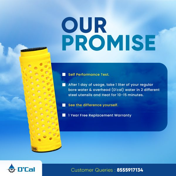 Dcal promice for hard water softener