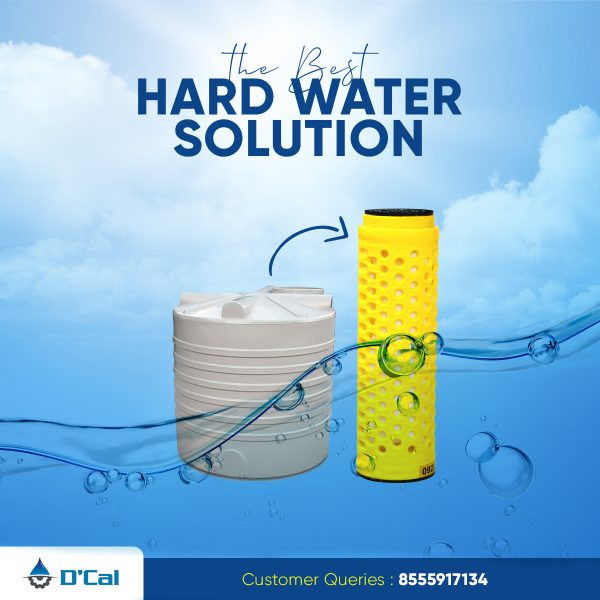 Hard water softener for whole house