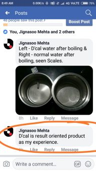 DCal Reviews & Testimonials:Jignasoo Mehta dcal customer testimonial whatsapp
