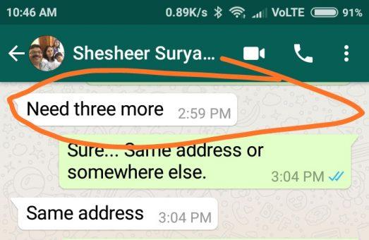 Shisheer surya dcal customer testimonial whatsapp