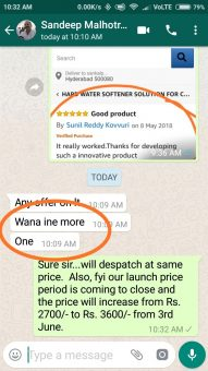 DCal Reviews & Testimonials: Dcal Customer Testimonial through whatsapp